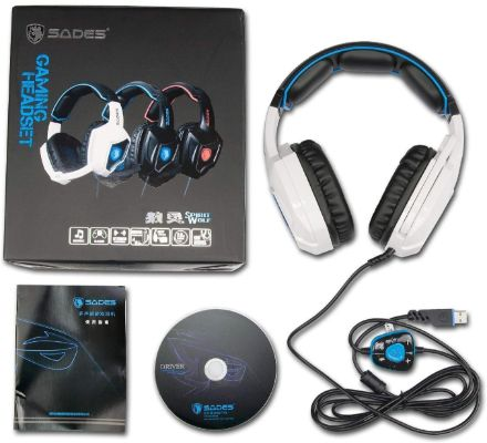 SADES Spirit Wolf 7.1 Surround Stereo Sound USB Computer Gaming Headsets with Microphone