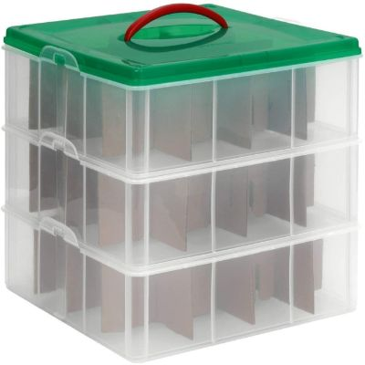Snapware Snap 'N Stack Square 3-Tier Seasonal Ornament Storage Container