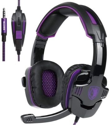 Updated Gaming Headphones, SADES SA930 Wired 3.5mm Stereo Sound Computer Gaming Headset