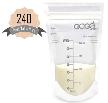 240 CT (4 Pack of 60 Bags) Best Value Pack Breast milk Storage Bags