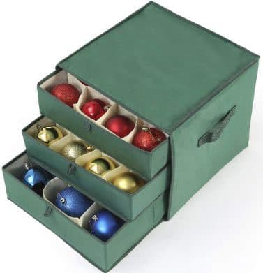 Vencer Green Christmas 41 Ornament Storage