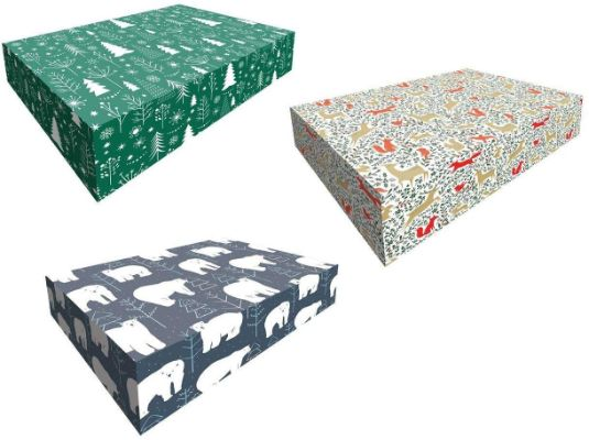 Snap-N-Store Magnetic Ornament Storage Box, 3-Pack