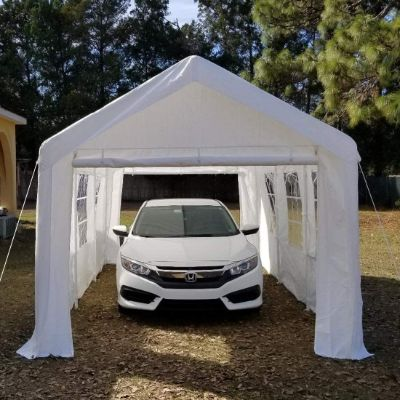 Overwhelming 10'x20' Heavy Duty Carport Garage