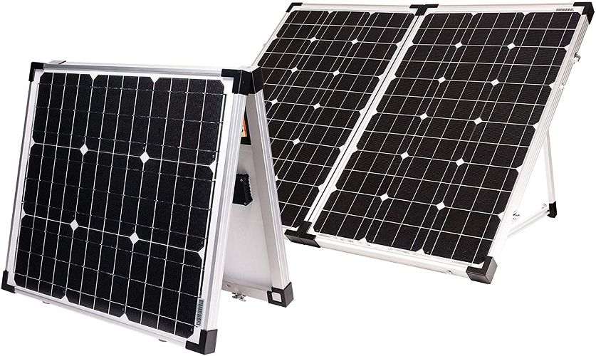 Go Power! GP-PSK-130 130W Portable Folding Solar Kit with 10 Amps Solar Controller