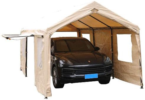 SORARA Carport 10 x 20 ft Heavy Duty Canopy Garage Car