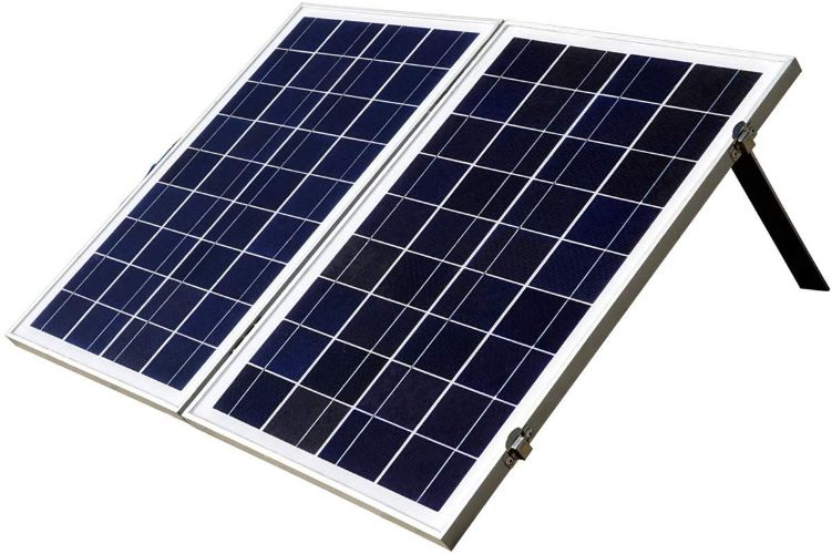 ECO-WORTHY 12 Volts Portable Foldable Solar Panel Kit Solar Suitcase Battery Charger (40W, Poly White)
