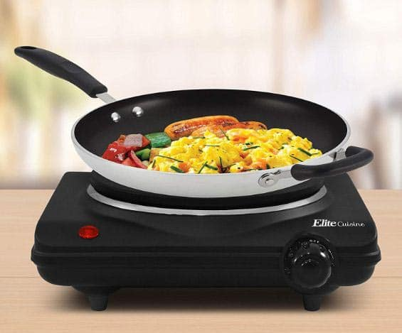 Maxi-Matic ESB-301BF Single Electric Flat Cast Iron