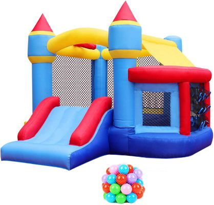 RETRO JUMP Inflatable Bouncer with Blower Kids Bounce House