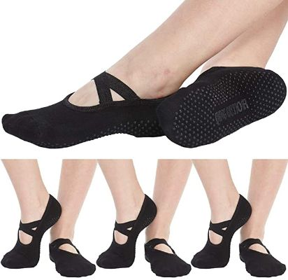 Women's No Show Low Cut Hospital Slipper Socks Great for Barre Pilates Yoga