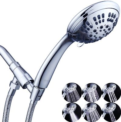 G-Promise High-Pressure Shower Head 6 Spray Setting Hand Held Shower Heads