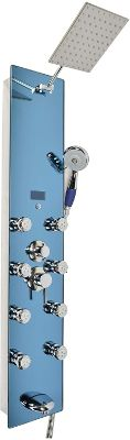 """Blue Ocean 52"""" Stainless Steel SPV878392H Shower Panel with Rainfall Shower Head, 8 Adjustable Nozzles"""