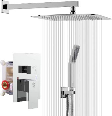 SR SUN RISE SRSH-F5043 10 Inches Bathroom Luxury Rain Mixer Shower Combo Set