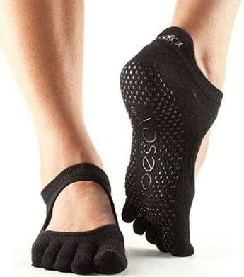 Toesox Women's Bellarina Full Toe Grip Non-Slip