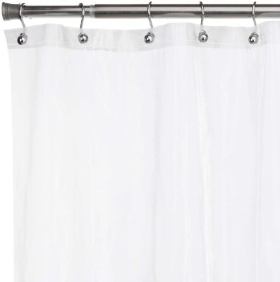 UrbanWare Mildew Resistant Anti-Bacterial PEVA 8G Shower Curtain Liners, 72x72 Clear - Non-Toxic