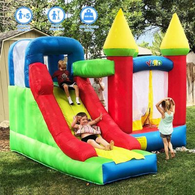 YARD Bounce House with Slide 0.4mm Vinyl Extra Thick
