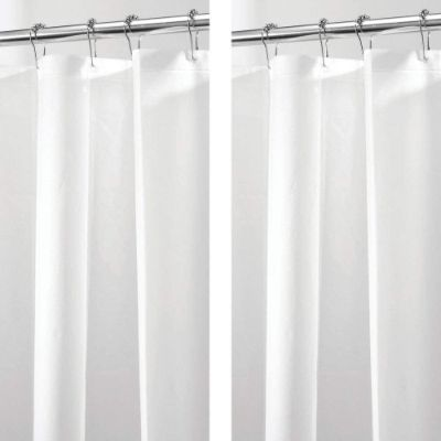 MDesign Waterproof, Mold:Mildew Resistant, PEVA Shower Curtain Liner for Bathroom Shower and Tub