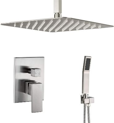Artbath Shower System Brushed Nickel with 12 Inch Rain Shower Head