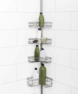 Zenna Home 2130NN Shower Tension Pole Caddy