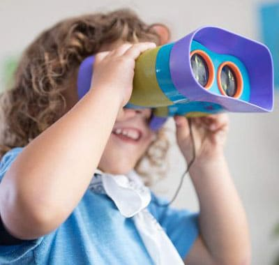 Educational Insights GeoSafari Jr. Kidnoculars- Kids Binoculars - Perfect for Preschool Science