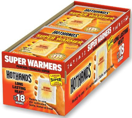 HotHands Body & Hand Super Warmers - Long Lasting Safe Natural Odorless Air Activated Warmers