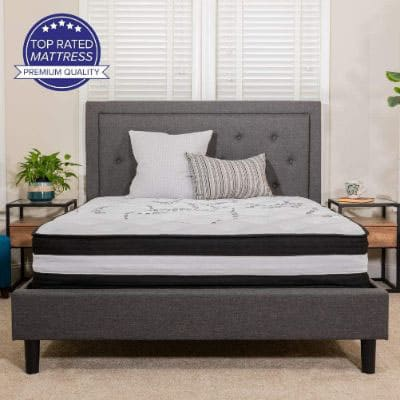 Flash Furniture Capri Comfortable Sleep 12 Inch Foam
