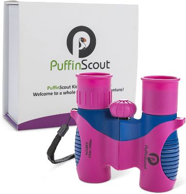 Binoculars for Girls Best Gift for Girls age 3-12 High-Resolution 8x21 - Kids Binoculars for Bird Watching