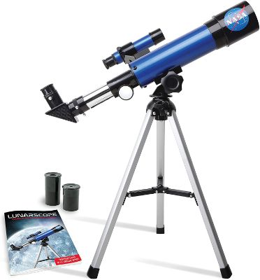 NASA Lunar Telescope for Kids – Capable of 90 as Magnification, Includes Two Eyepieces, Tabletop Tripod