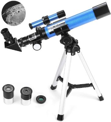 MaxUSee Kids Telescope 400x40mm with Tripod & Finder Scope, Portable Telescope for Kids & Beginners