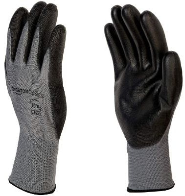 AmazonBasics Polyurethane Coated Work Gloves