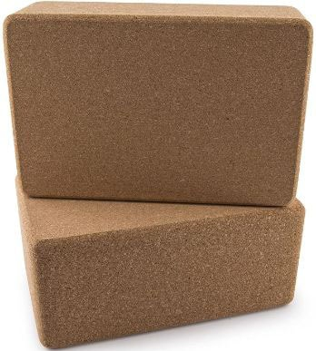 DA VINCI Set of 2 Premium Natural Cork Yoga Blocks