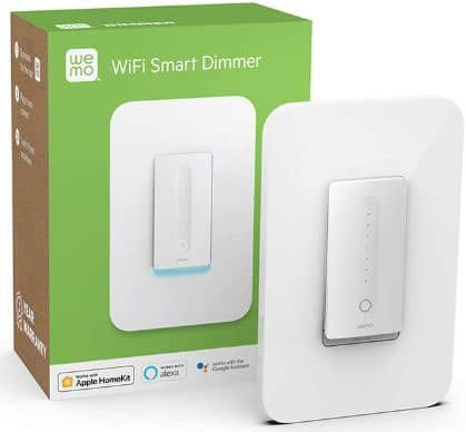 WeMo Dimmer Wifi Light Switch Works with Alexa, the Google Assistant, and Apple Homekit
