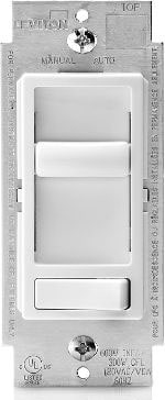 Leviton R62-06674-P0W Sure Decora Electro-Mechanical Preset Universal Slide Dimmer, 120 Vacs, 600:150 W