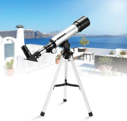 Telescope for Kids, Merkmak Educational Toy for Beginners Science Plastic Tools with Tripod, and 3