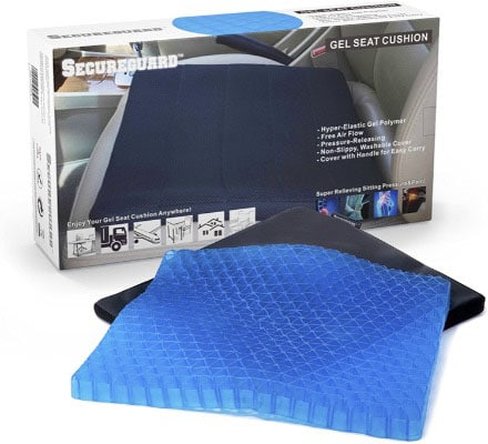 Durable, Portable Seat Cushion for Office Chair Car Supports Lower Back, Spine, Tailbone, Hips