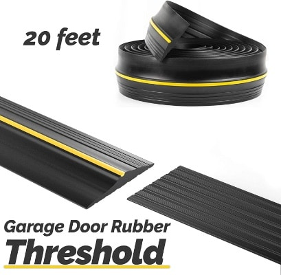 Panady Universal Garage Door Threshold Bottom Rubber Seal DIY Weather Stripping 20Ft