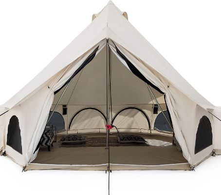 White Duck Premium Outdoors Luxury Avalon Tent Canvas with Stove Jack, for All Season Glamping