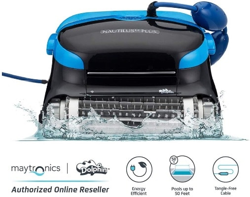 Automatic Robotic Pool Cleaner With Tangle-Free Cord