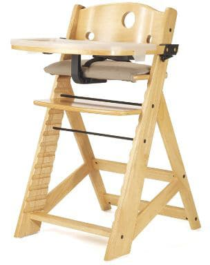 Keekaroo High Chair Height Right with a Tray, Natural