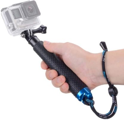 Vicdozia Portable Extension Pole: Selfie Stick, Waterproof Adjustable Pole Compatible with GoPro