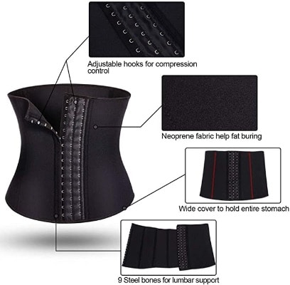Corset Waist Trainer For Men With Multiple Hooks