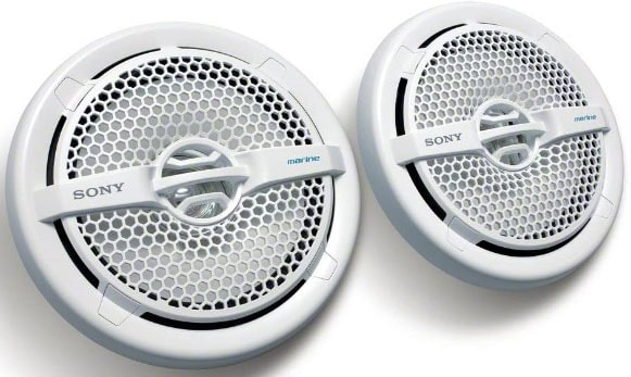 Dual Cone Marine Speakers With Removable Grille