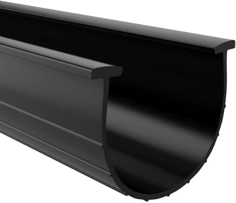 Garage Door Weather Seal for Bottom, 20' Long, T Ends, 2 3:4 3 Width Black Strip