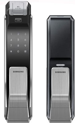 Samsung SHS-P718-LMK Biometric Touchscreen Push Pull Digital Door Lock, RFID Entry, Code Fingerprint