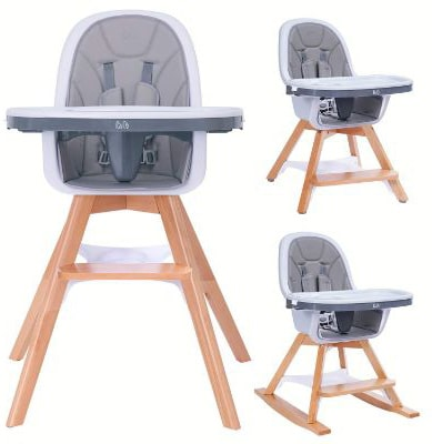 Baby High Chair for Baby:Infants:Toddlers - with Removable Tray, 4-in-1 Wooden High Chair:Booster:Chair