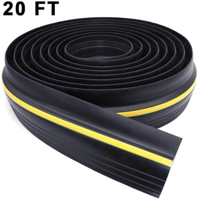 Universal West Bay, Garage Door Threshold, Weather Stripping Waterproof Bottom Rubber 20 Feet