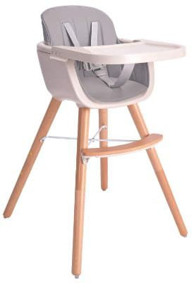 Baby High Chair, Tray Baby:Infants:Toddlers 3 in 1 Wooden High Chair- Adjustable Legs Removable