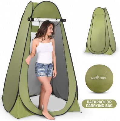 Pop Up Instant Privacy Tent –Portable Outdoor Camp Shower Toilet, Changing Room tent, Rain Shelter