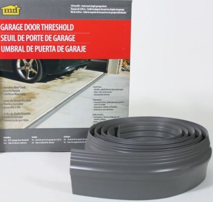 M-D Building Products 10 foot, 50100 M-D Gray Single Garage Door Threshold, Vinyl