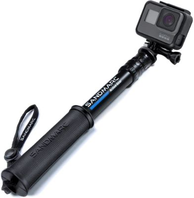 SANDMARC Waterproof Pole 10-25 Compact Edition- Selfie Stick - for GoPro Hero 8, 7, 6, Max, Fusion