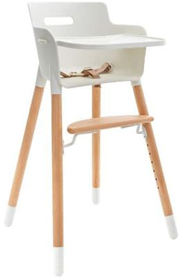 WeeSprout 3-in-1 Wooden High Chair, Modern Design, for Babies & Toddlers, Adjustable Footrest:Legs